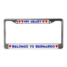 My Heart: Bernardo (#005) License Plate Frame
