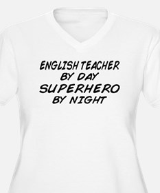 English Teacher Superhero T-Shirt