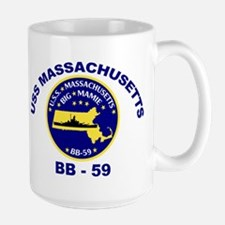 USS Massachusetts BB 59 Mug