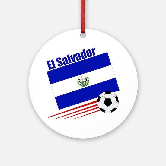 El Salvador Soccer Team Ornament (Round)