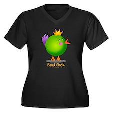 Bead Chick Bead (green) Women's Plus Size V-Neck D