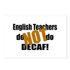English Teachers Don't Do Decaf Postcards (Package