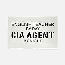 English Teacher CIA Agent Rectangle Magnet