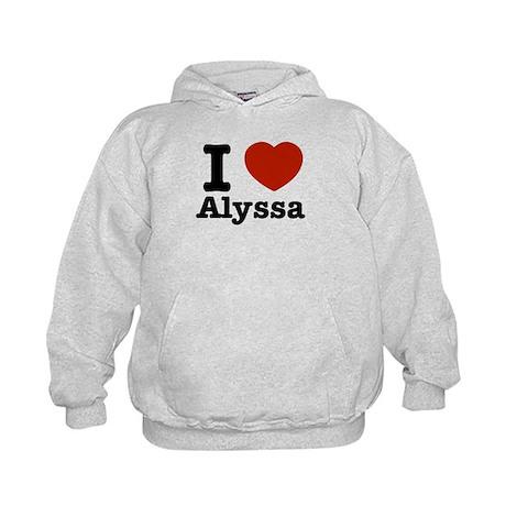 I love Alyssa Kids Hoodie