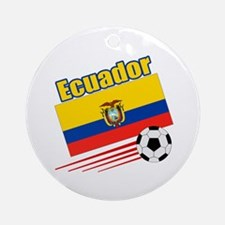 Ecuador Soccer Team Ornament (Round)