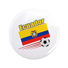 """Ecuador Soccer Team 3.5"""" Button (100 pack)"""