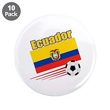 """Ecuador Soccer Team 3.5"""" Button (10 pack)"""