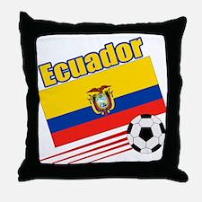 Ecuador Soccer Team Throw Pillow
