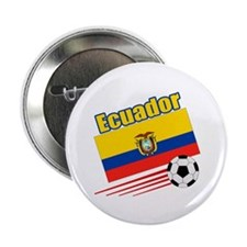 "Ecuador Soccer Team 2.25"" Button (10 pack)"