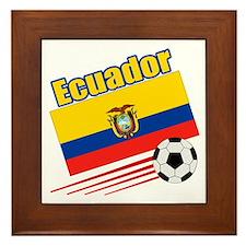 Ecuador Soccer Team Framed Tile