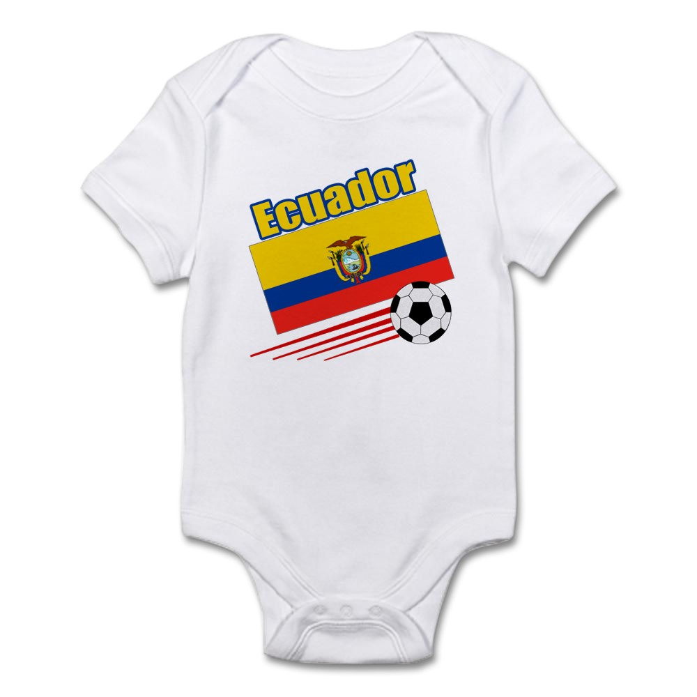 CafePress Ecuador Soccer Team Infant Bodysuit Baby Bodysuit 208657471