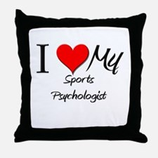 I Heart My Sports Psychologist Throw Pillow