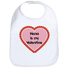 Nona is My Valentine Bib