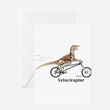 Velociraptor Greeting Card