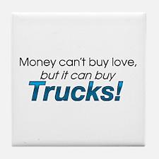 Money & Trucks Tile Coaster