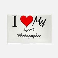 I Heart My Sport Photographer Rectangle Magnet
