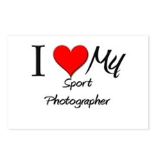 I Heart My Sport Photographer Postcards (Package o