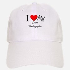 I Heart My Sport Photographer Baseball Baseball Cap