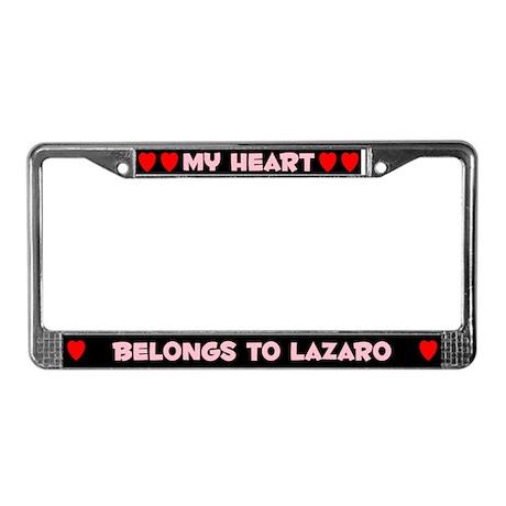 My Heart: Lazaro (#002) License Plate Frame