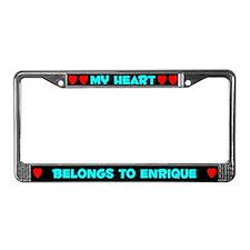 My Heart: Enrique (#003) License Plate Frame