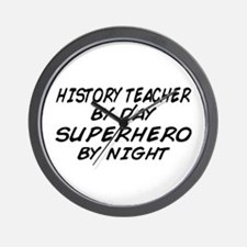 History Teacher Superhero Wall Clock