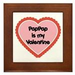 PapPap is My Valentine Framed Tile