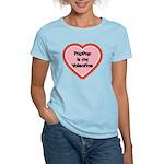 PapPap is My Valentine Women's Light T-Shirt