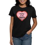 PapPap is My Valentine Women's Dark T-Shirt