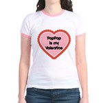 PapPap is My Valentine Jr. Ringer T-Shirt