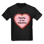 PapPap is My Valentine Kids Dark T-Shirt
