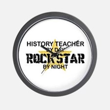 History Teacher Rock Star Wall Clock