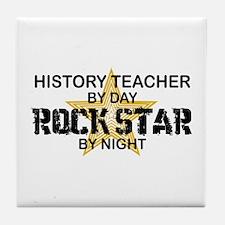 History Teacher Rock Star Tile Coaster