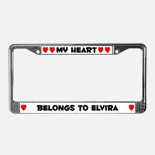 My Heart: Elvira (#004) License Plate Frame