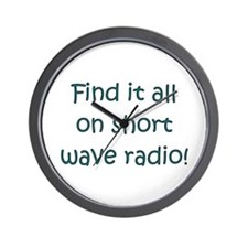 Find It On Short Wave Wall Clock