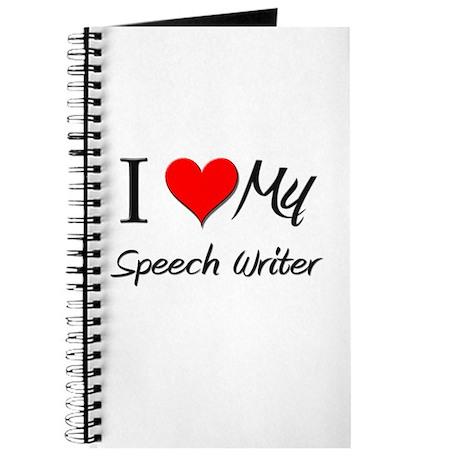 I Heart My Speech Writer Journal