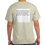 Troop Supporting(back) Ash Grey T-Shirt