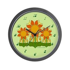 Funky Floral Kitchen Clock