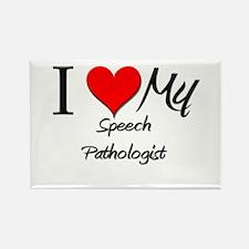 I Heart My Speech Pathologist Rectangle Magnet