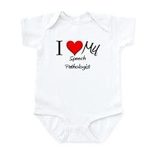 I Heart My Speech Pathologist Infant Bodysuit