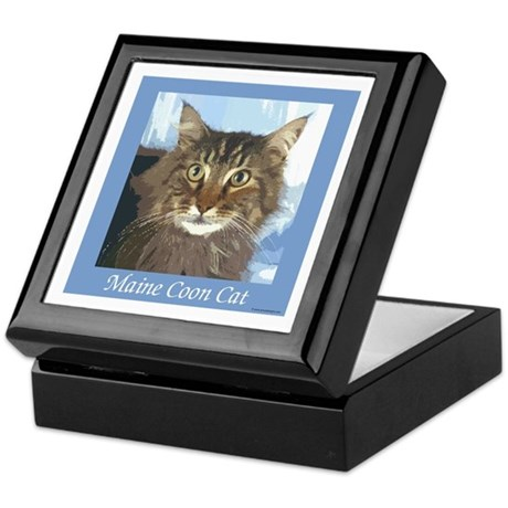 Maine Coon Cat Keepsake Box