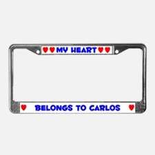 My Heart: Carlos (#005) License Plate Frame