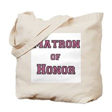 Pink Text Matron of Honor Tote Bag