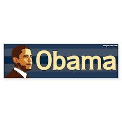 Obama Bumper Sticker (blue stripes)