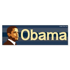 Obama Bumper Sticker (blue stripes)