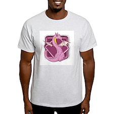 Pinkie the Dragon Ash Grey T-Shirt