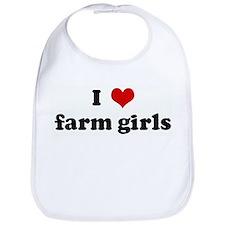 I Love farm girls Bib