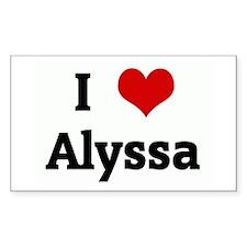 I Love Alyssa Rectangle Decal