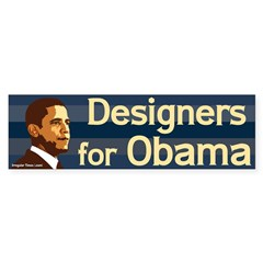 Designers for Obama bumper sticker