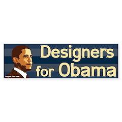 Designers for Obama bumper sticker