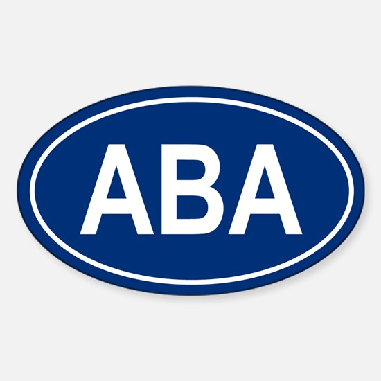 ABA Oval Decal
